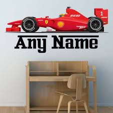 Race Car Room Decor Race Car Wall Decal Nursery Decals Kids Wall Decal Boys Room Decor