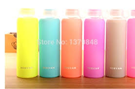 glass water bottle silicone sleeve 32 oz stars love player colorful jelly