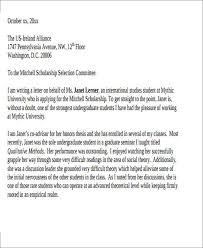 College Scholarship Letter Of Recommendation Sample Kadil