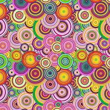 Colorful Patterns Interesting Abstract Seamless Background With Decorative Colorful Cycle Patterns