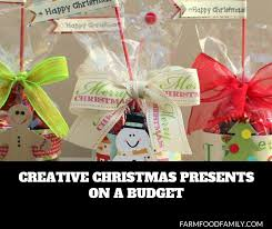 looking for creative inexpensive gifts for the family friends and others on your holiday ping list read on