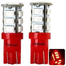 2pcs Sencart T020 T10 4W Red Light 15 SMD 5730 LEDs Car ...