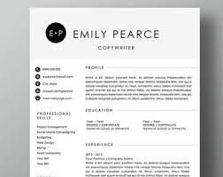3 Pack 2 Page Resume Template 1 Page Cover Letter