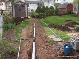 Backyard Drainage System  Installing Sinks In The Backyard Drainage In Backyard
