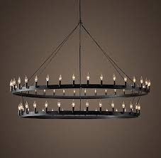 camino two tier 72 chandelier iron