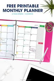 free printable 2019 monthly calendar 2018 2019 monthly planner calendar free printable planner