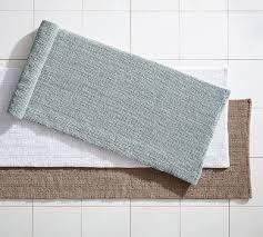 textured organic bath mat double wide