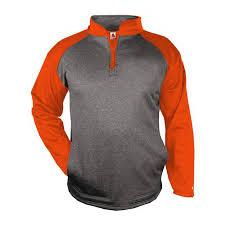 Badger Softball Pants Size Chart Badger Mens Sport Heather 1 4 Zip Pullover Tc