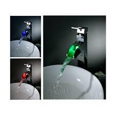 sumerain led thermal chrome 1 handle single hole bathroom sink faucet