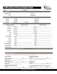 Employee Status Blank Employee Status Change Form Free Download