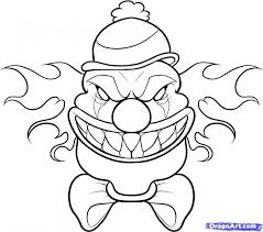 29 Drawn Clown Traceable Free Clip Art Stock Illustrations Clipart