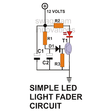 how to build ac dc light fader circuits simple led light fader circuit diagram image however capacitor c2 charges