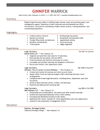 Legal Secretary Resumes Resume Cv Cover Letter