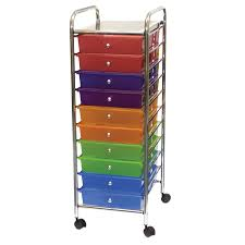 office rolling cart. mobile organizer 10 drawers 13 x 38 1514 inches office rolling cart c