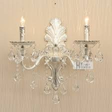 wall sconce ideas chrome continental beautiful crystal candle