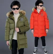 details about winter kids boys thick cotton down jackets fur collar quilted padded parka coats