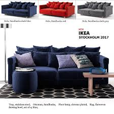 Warehouse 1 x stockholm coffee table article no: Sofa Ikea Stockholm 2017 3d Model Cgtrader