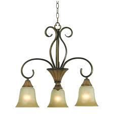 bay 3 light chandelier w teak finish hampton chrome