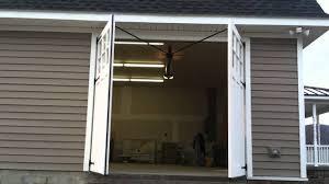swing out garage doorsCarriage Door  Swing Out Garage Door  YouTube