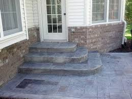Stamped concrete patio with stairs Dark Brown Semi Circular Front Steps Rounded Granite Steps Allow Travel In Two Directions Steps Pinterest Front Steps Porch Steps And Entrance Pinterest Semi Circular Front Steps Rounded Granite Steps Allow Travel In