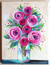 Easy Floral Designs To Paint Made By Me Julie Ryder Flowers And Swirls Spring