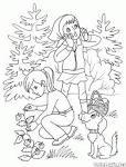 Лес раскраска для детей картинка 112