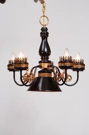 black gold steampunk chandelier