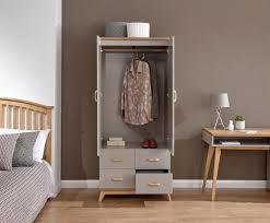 Nordica 2 Door 4 Drawer Wardrobe Oak Light Grey
