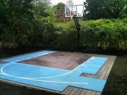 basketball court on a deck
