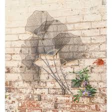 on ginkgo tree metal wall art with metal leaf garland wayfair