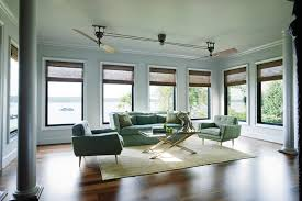 cool ceiling fans Living Room Tropical with beige curtains ceiling