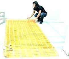 how to install heated floor under tile amillco heated bathroom floor rug