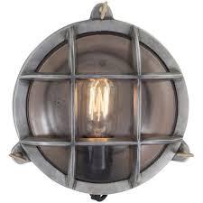 industville vintage industrial style round retro bulkhead wall light flush mount