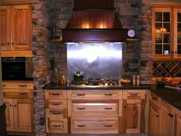 Brick Kitchen Interior Design Charming Brick Backsplash With Wine Cellar And