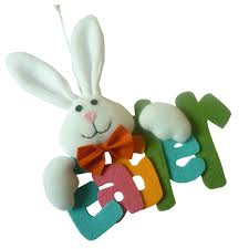Rabbit Decorative Accessories Lovely Bunny Spring Easter Hanging Ornament Rabbit Decorative 19