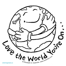 Earth Day Globe Coloring Page 2018 Open Coloring Pages