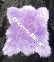 möbel wohnen plush faux fur bear skin