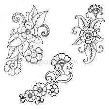 henna tattoo flower template indian style ethnic fl paisley lotus