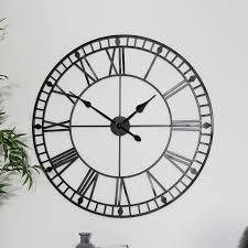 black iron skeleton wall clock clone