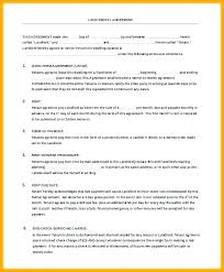 Room Rental Contract Apartment Contract Template