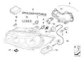 Realoem online bmw parts catalog headlight wiring diagram single parts xenon headlight