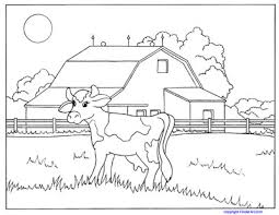 Small Picture Farm and Baby Animals Coloring Pages Cows Horses Ducks KinderArt