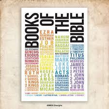 Books Of The Bible Chart Printable Design 29x39cm 11x17