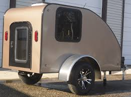 Small Car Camper Small Lightweight Teardrop Camping Cargo Pull Behind Motorcycle