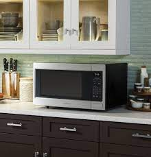 Seven Places To Put Your Microwave That Aren T On The Counter Seriously Happy Homes