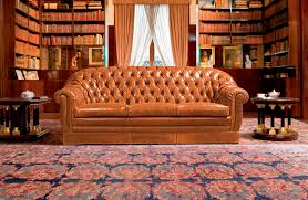Living Room Furniture Glasgow Chesterfield Sofa Leather 3 Seater Brown Glasgow Mascheroni