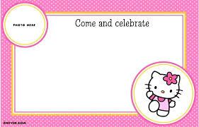 Hello Kitty Party Invitation Hello Kitty Birthday Card Printable Free Elegant Lovely