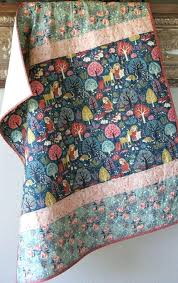 Baby Quilt Girl Acorn Trail Birch Organic Fabrics Woodland Forest ... & Baby Quilt Girl Acorn Trail Birch Organic Fabrics Woodland Forest Blanket  Nursery Bedding Crib Quilt Cot Adamdwight.com