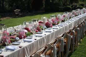 Outdoor Table Decor Outdoor Wedding Reception Table Decorations