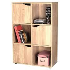 Sliding Door Dvd Cabinet Oak Finish 6 Cube 3 Door Shelf Books Cds Dvds Wooden Storage